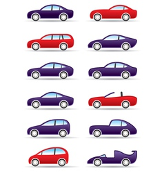 Different types of modern cars vector image vector image