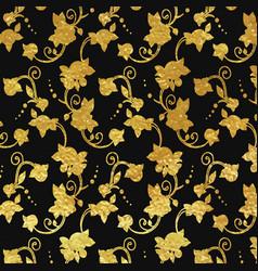 flower golden foil design vector image vector image