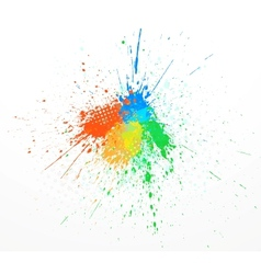 paint splashing vector image vector image