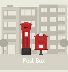 red street mail boxes vector image vector image