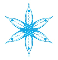 snowflake isolated on white vector image vector image