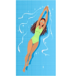 Swimming in a pool vector image vector image