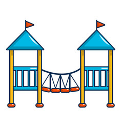 two castle kid icon cartoon style vector image