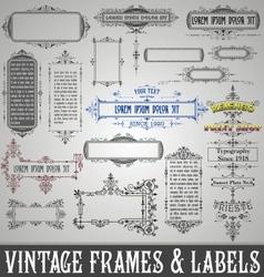 Vintage Frames and Labels vector image
