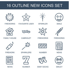 16 new icons vector