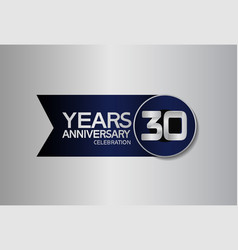 30 years anniversary logo style with circle vector