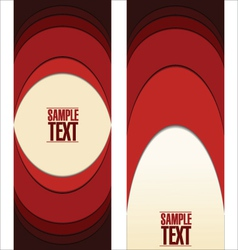 Abstract red labels vector