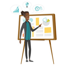 African businessman giving business presentation vector