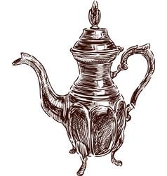 Antique pitcher vector
