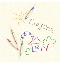 Background with children s drawings of vector
