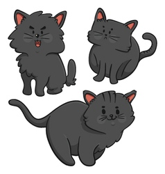 Black Cats Trio vector image