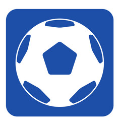 Blue white sign - classical football soccer ball vector