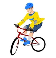 Boy Riding A Bicycle vector image