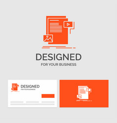 business logo template for data document file vector image