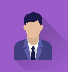 Businessman flat icon vector