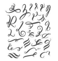 calligraphy design elements set vector image