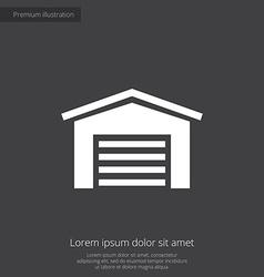 Car garage premium icon vector