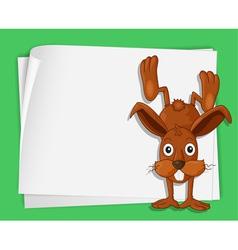 Cartoon Paper Space Bunny vector image