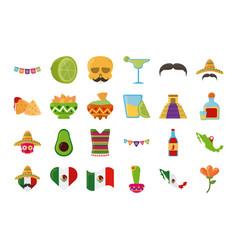 cinco de mayo mexican celebration festive party vector image