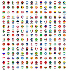 circle flags of the world vector image