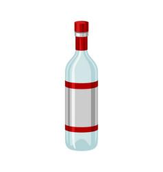 Classic bottle vodka vector