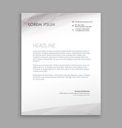 clean minimal letterhead design vector image