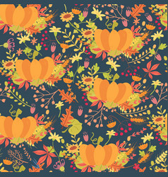 Colorful pumpkins seamless pattern vector