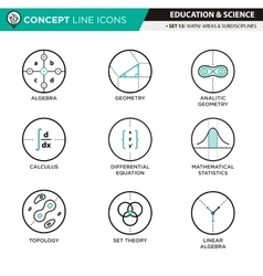 Concept line icons set 11 natural and formal vector