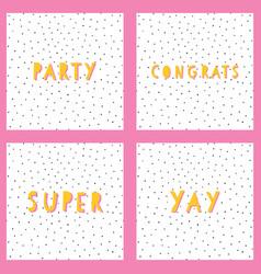 congratulations template set congrats vector image