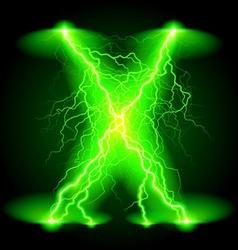 Crosswise lightning lines vector image