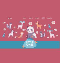 cute animals in cartoon style vector image