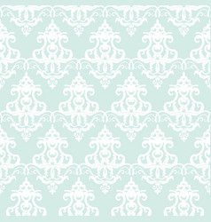 Damask seamless pattern background pastel blue vector