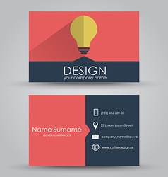 Design business card vector