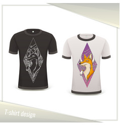 design tshirt fox vector image