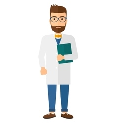 Doctor holding file vector