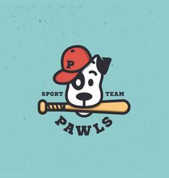 dog sport mascot vector image