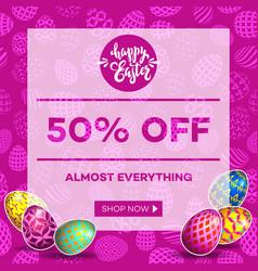 Easter egg sale banner background template 16 vector