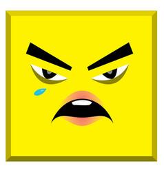Emoticon logo happy and sad face vector