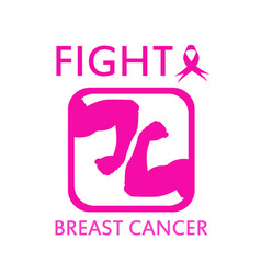 fight breast cancer vector image