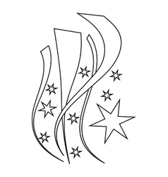 Firework icon outline style vector