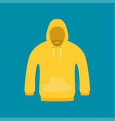 flat icon hoodie element vector image