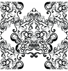 floral lace pattern in Oriental style vector image
