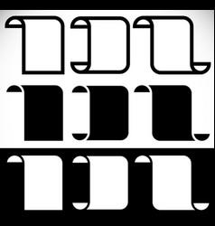 folded blank banners vertical peeling banner vector image