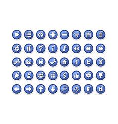 Game button templates blue vector