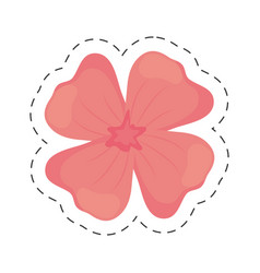 Geranium flower color cut line vector