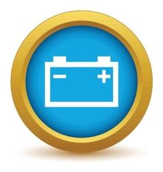 Gold accumulator icon vector