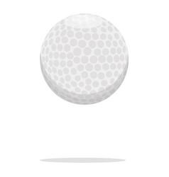 Golf ball icon plastic ball concept vector