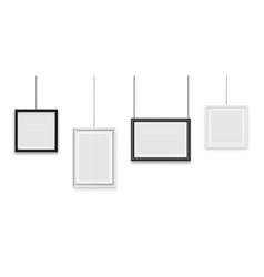 hanging frames blank photo frame image vector image