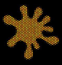 hexagon halftone blot icon vector image