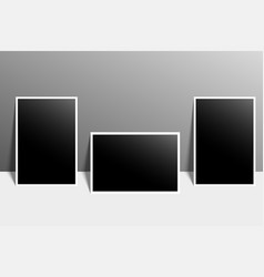 High resolution image of blank photo for designs vector